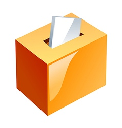 Icon ballot box vector