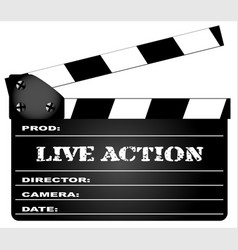 Live action clapperboard vector
