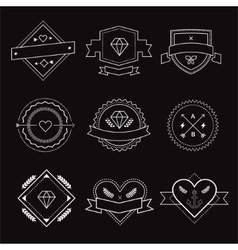 Logo design elements Vintage retro style Arrows vector image