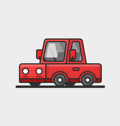 modern red car icon flat design vector image