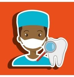 Nurse tooth search medical vector