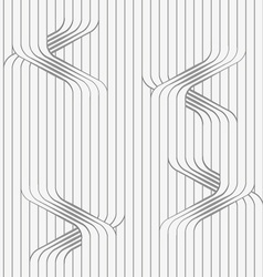 Perforated paper with uneven ties on continues vector
