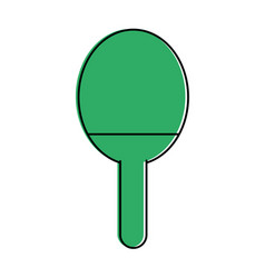 Ping pong paddle sport or fitness related icon vector
