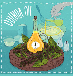 quinoa oil used for cooking vector image