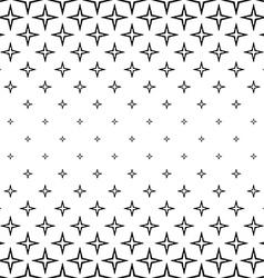 Repeating monochrome star cross pattern vector