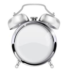 Retro alarm clock with blank clock face vector