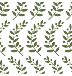 Seamless pattern with laurel branches vector