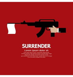 Surrender vector image vector image
