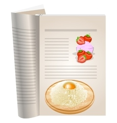 Template pages of a cookbook vector image vector image