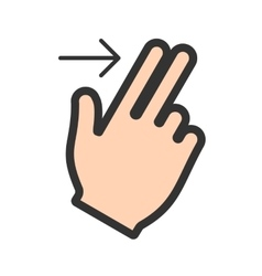 Two fingers right vector