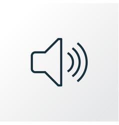 Volume outline symbol premium quality isolated vector