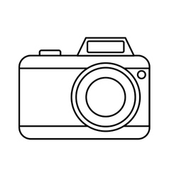 Camera photographic isolated icon vector