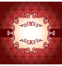 Lace frame and design elements on seamless retro vector