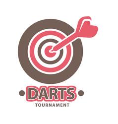 Darts championship logo template vector