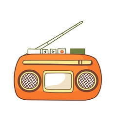 Cassette player vector