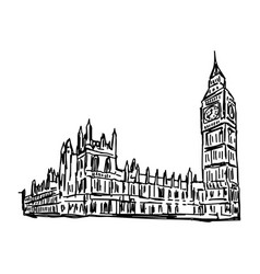 Big ben and house of parliament vector