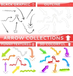Arrow collection of four different set vector