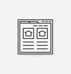 Find real estate website icon vector