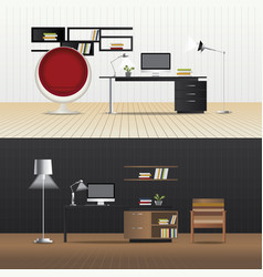 Interior living room with furniture vector