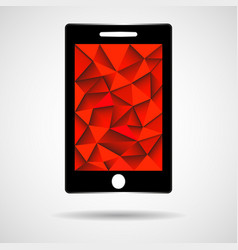 smartphone icon with triangular mosaic mobile vector image