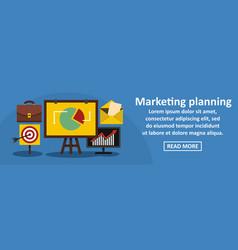 Marketing planning banner horizontal concept vector