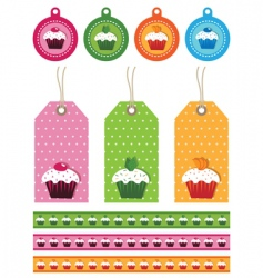 Cake tags vector
