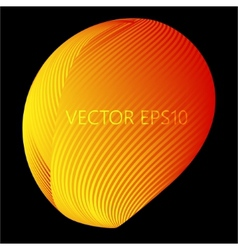 Glossy sphere abstract background vector