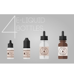 4 e-liquid bottles vector