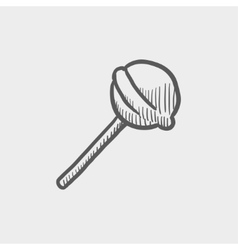 Round lollipop sketch icon vector