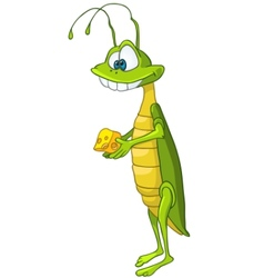 Cartoon character locust vector