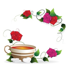 Tea and sugar vector
