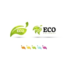 Ecology icon set eco-friendly vector