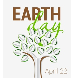 Earth day greeting vector
