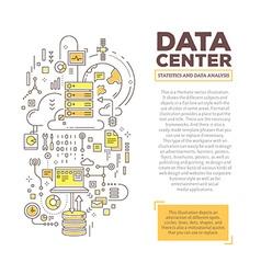 Creative concept of data center with header vector