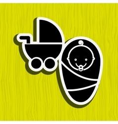 Baby shower icon design vector
