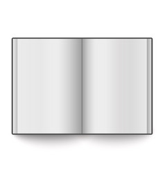 Blank book spread placed on white background vector