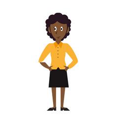 Business woman avatar cartoon vector