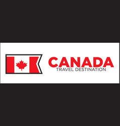 Canada travel destination banner vector