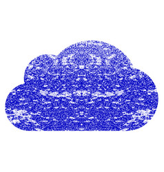 Cloud grunge textured icon vector