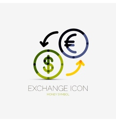 Currency exchange company logo business concept vector