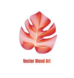 exotic leaf vector image