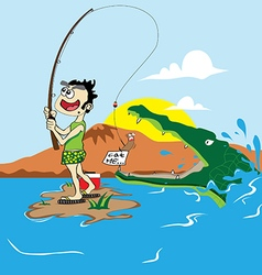 Fishing jokes vector