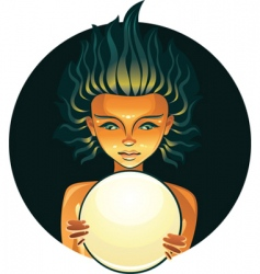 fortuneteller vector image vector image