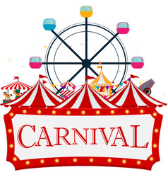 Funfair and carnival background vector