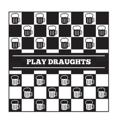 Funny poster about beer and draughts vector