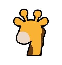 Giraffe cute animal little icon graphic vector