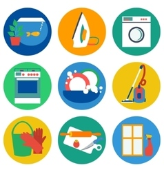 House work icons Flat vector image vector image