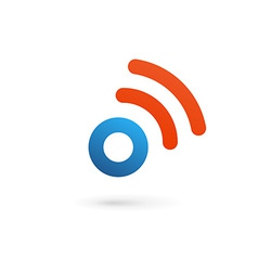 Letter o number 0 wireless logo icon design vector