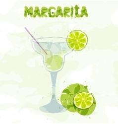 Margarita cocktail vector
