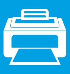 Modern laser printer icon white vector